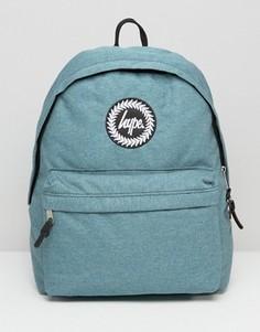 Рюкзак цвета морской волны из меланжевой ткани Hype - Синий