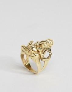 Большое кольцо в виде бога Ганеши Rock N Rose - Золотой