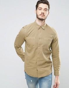 Рубашка классического кроя в стиле милитари Jack Wills Bagley - Бежевый