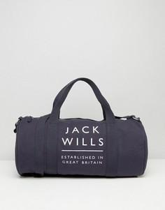Темно-синяя спортивная сумка Jack Wills Ledbrook - Темно-синий