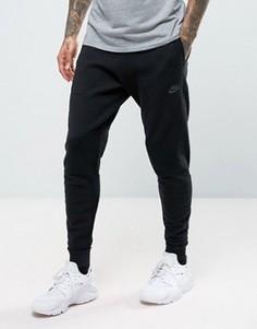 Черные суженные книзу джоггеры из трикотажа Nike Tech 832180-010 - Черный