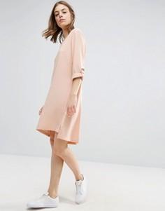 Платье из крепа b.Young - Розовый