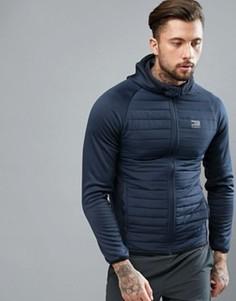 Стеганая куртка с капюшоном Jack & Jones Tech - Темно-синий