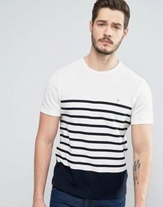 Узкая футболка из пике с темно-синими полосками Farah Hampstead - Темно-синий