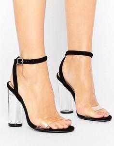 Босоножки на каблуке с прозрачным верхом Truffle Collection - Черный