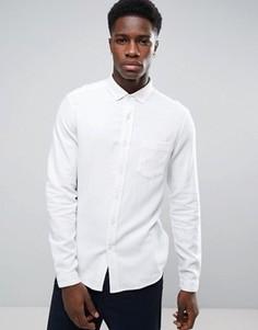 Белая фактурная льняная рубашка классического кроя ASOS - Белый