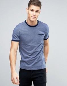 Фактурная футболка с контрастной отделкой Ted Baker - Синий