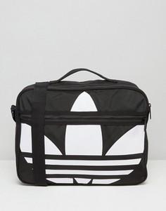 Сумка с логотипом-трилистником Adidas Airliner - Черный