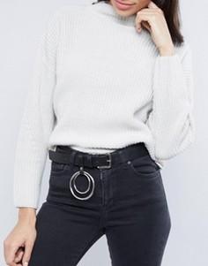 Ремень под джинсы с кольцами ASOS - Черный