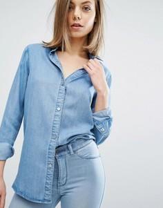 Джинсовая рубашка Dr Denim Blanch - Синий