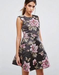 Приталенное платье Ted Baker Kinella - Серый