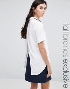 Рубашка с короткими рукавами и запахом Adpt Tall - Кремовый