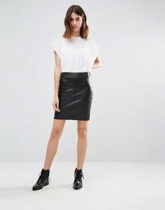 Мини-юбка из искусственной кожи Vero Moda - Черный