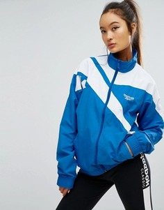 Спортивная куртка на молнии с вектором Reebok Classics - Синий