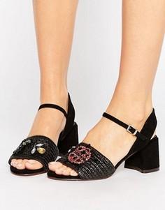 Босоножки на каблуке ASOS TURTLE - Черный