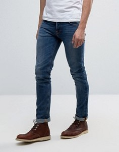 Синие джинсы Nudie Jeans Co Grim Tim - Синий