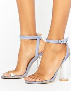 Босоножки на каблуке с прозрачным верхом Truffle Collection - Синий