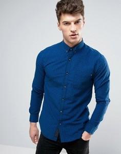 Рубашка в мелкую клетку Produkt - Темно-синий