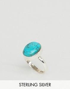 Серебряное кольцо с бирюзой Regal Rose Lotti - Серебряный