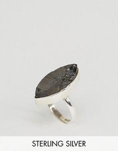 Серебряное кольцо с неграненым камнем Regal Rose - Серебряный