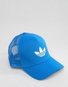 Бейсболка с логотипом-трилистником Adidas - Синий