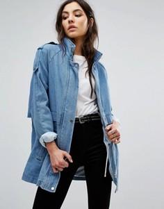 Джинсовая oversize-куртка Vila - Синий