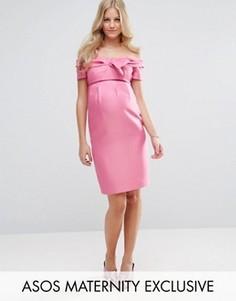 Платье с бантом ASOS Maternity - Розовый
