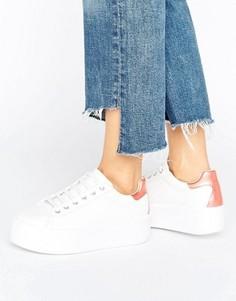 Массивные кроссовки на шнуровке ASOS DUSKY - Белый
