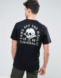 Черная футболка Vans Shaved Bones VA312UBLK - Черный