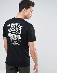 Черная футболка с надписью Tell A Friend Vans VA3138BLK - Черный