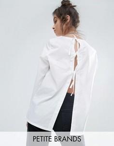 Рубашка с завязками сзади Noisy May Petite - Белый