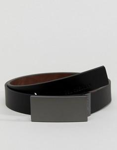 Двусторонний кожаный ремень Ben Sherman - Черный