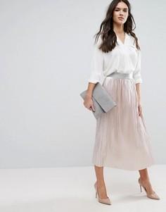 Плиссированная юбка Y.A.S Mobis - Розовый