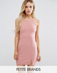Платье мини с разрезом сбоку Missguided Petite - Розовый