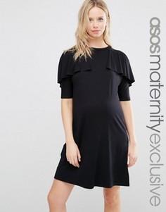 Платье-футболка для беременных ASOS Maternity - Черный