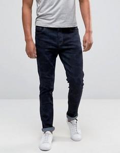 Синие джинсы скинни с камуфляжным принтом Hoxton Denim - Темно-синий