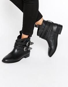 Ботинки в стиле вестерн без застежек ASOS ALAR - Черный