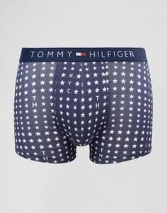 Эластичные боксеры-брифы с принтом звезд и надписи NYC Tommy Hilfiger Icon - Темно-синий