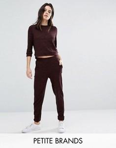 Трикотажные прямые брюки Vero Moda Petite - Коричневый