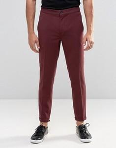 Бордовые укороченные повседневные брюки Lindbergh - Красный