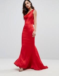 Платье макси со свободным воротом спереди Jarlo Electra - Красный