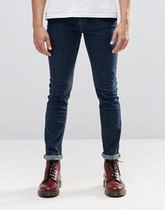 Однотонные эластичные облегающие джинсы Cheap Monday - Синий