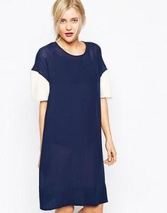 Платье с принтом 33 Wood Wood Sia - Темно-синий