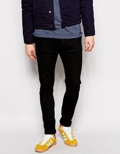 Черные джинсы слим с заниженным шаговым швом Dr Denim Leon - Черный