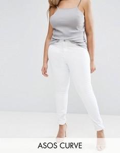 Белые джинсы скинни ASOS CURVE Ridley - Белый