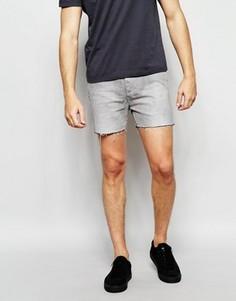 Короткие джинсовые шорты Religion - Серый