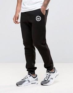 Зауженные спортивные брюки с логотипом Hype - Черный