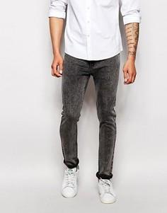 Эластичные джинсы слим Farah - Серый
