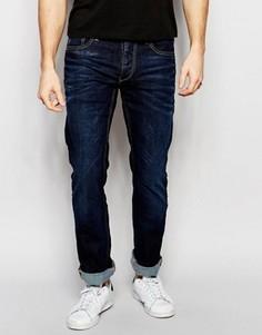 Темно-выбеленные джинсы классического кроя Jack & Jones Intelligence - Синий