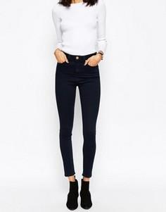 Черно-синие джинсы скинни с завышенной талией ASOS Ridley - Синий
